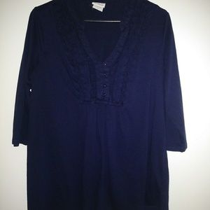 Navy blue maternity top